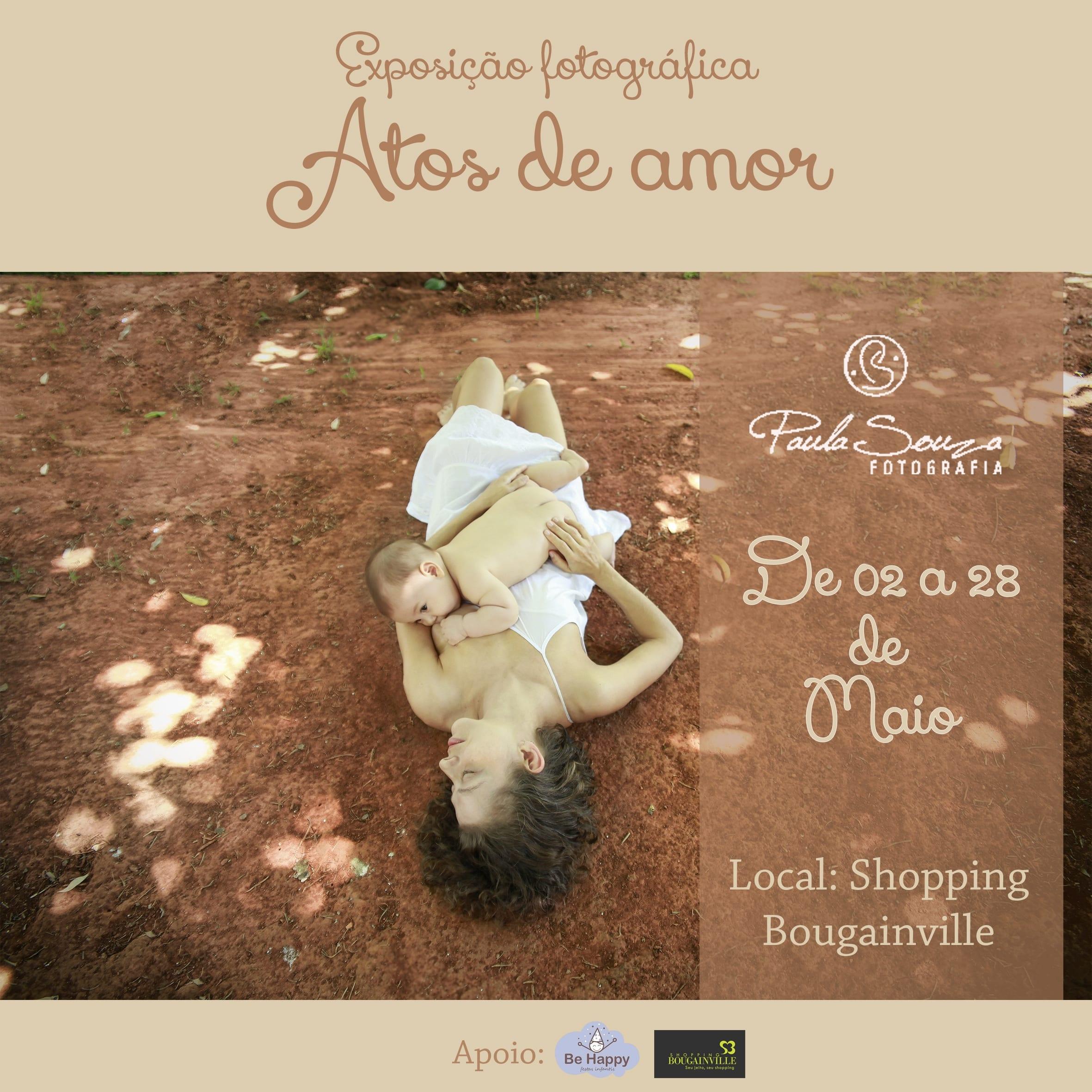 exposicao atos de amor, paula souza, newborn, gestante, goiania, goias, bougainville, shopping