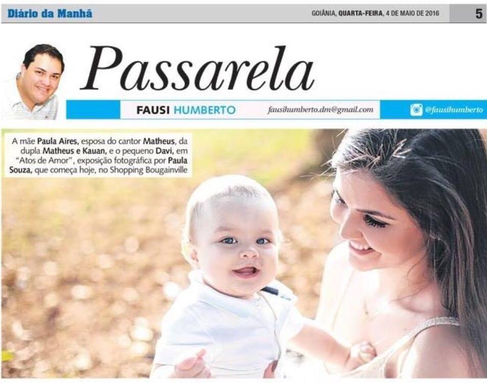 Diario da Manha, Paula Souza, Newborn, gestante, Goiania, Brasilia, Anapolis, Exposicao fotografica das maes -