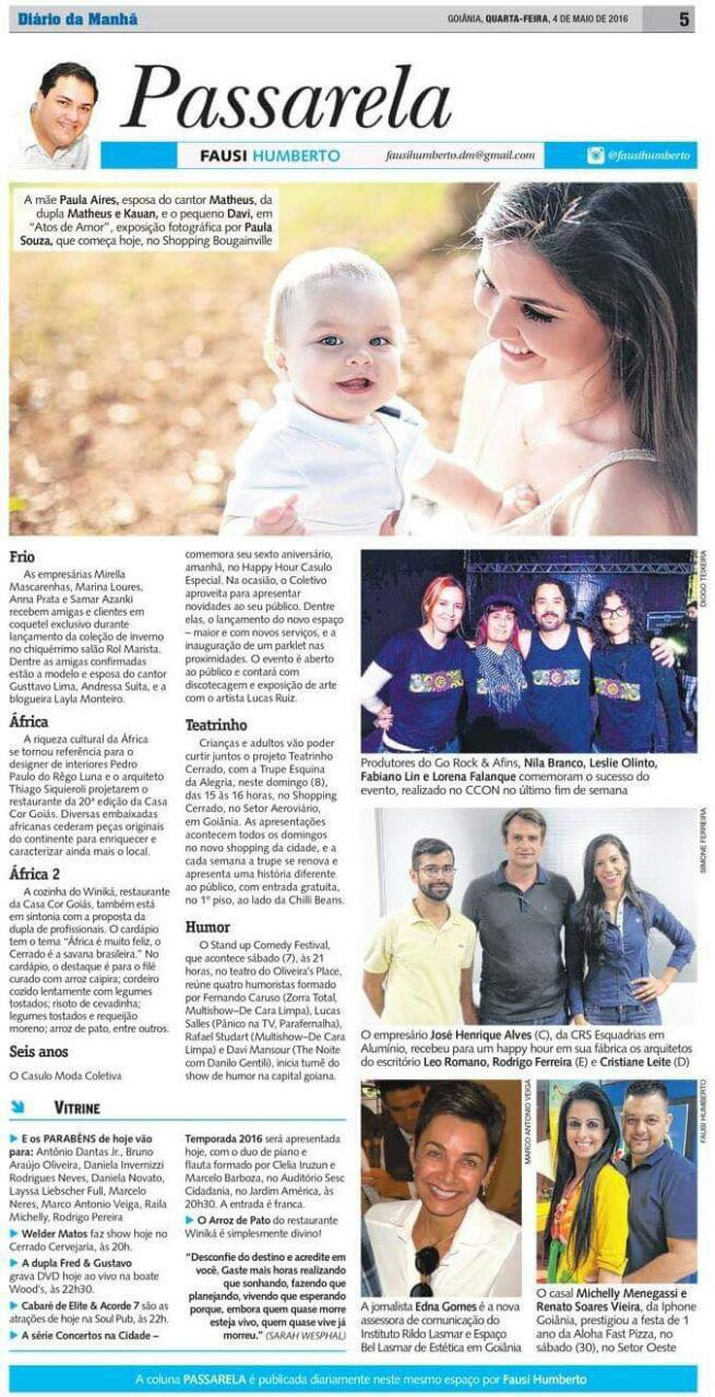 Diario da manha, Paula Souza, Newborn, gestante, Goiania, Brasilia, Anapolis, Exposicao fotografica das maes - 1