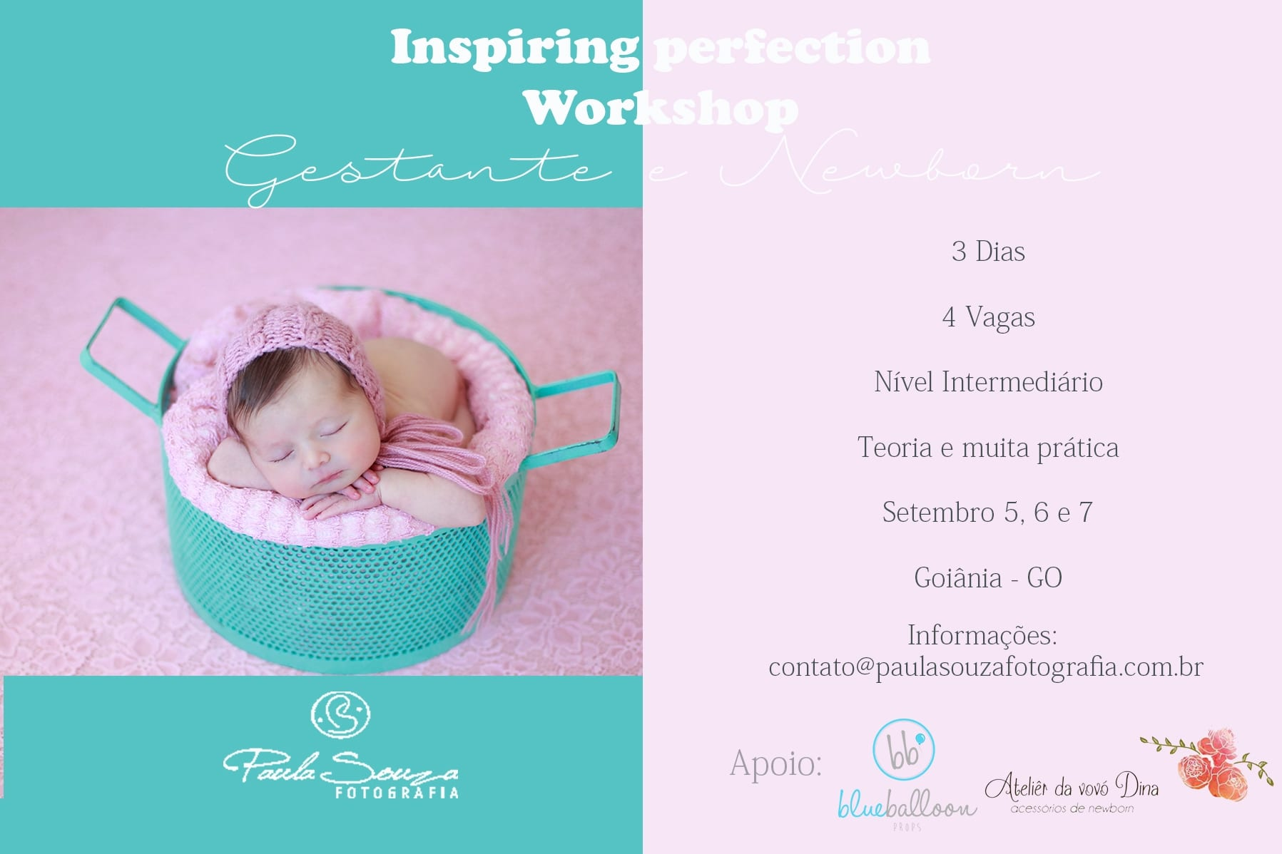 Workshop, paula Souza fotografia, Inspiring perfection, gestante, newborn, goiania, brasilia, anapolis